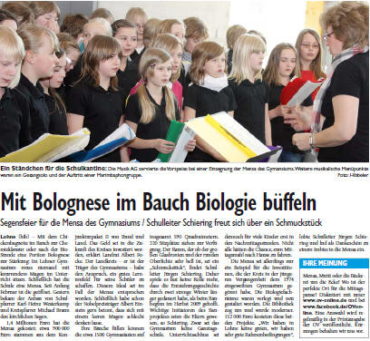 Aktuelles am Gymnasium Lohne im Schuljahr 08/ 09